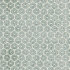 Light Blue/Ivory Geometric Decorator Fabric by Kravet
