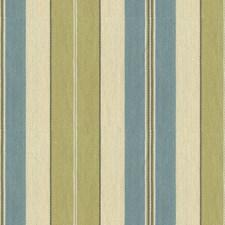 Light Blue/Green Stripes Decorator Fabric by Kravet