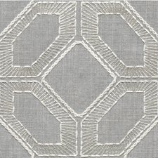 Grey/White Geometric Decorator Fabric by Kravet