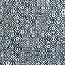 Blue/Light Blue/Ivory Geometric Decorator Fabric by Kravet