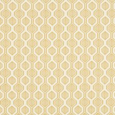 Gold/Ivory Geometric Decorator Fabric by Kravet