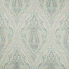 Blue/Ivory/Grey Damask Decorator Fabric by Kravet