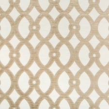 White/Beige Lattice Decorator Fabric by Kravet
