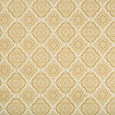 White/Camel Medallion Decorator Fabric by Kravet