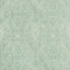 Light Blue/Turquoise/Beige Paisley Decorator Fabric by Kravet
