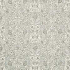 Grey/Light Blue/White Paisley Decorator Fabric by Kravet