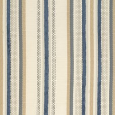 Ivory/Blue/Grey Stripes Decorator Fabric by Kravet