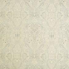Beige/Light Blue/Light Grey Paisley Decorator Fabric by Kravet
