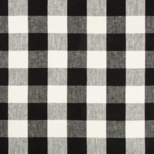 Black/Ivory Check Decorator Fabric by Kravet