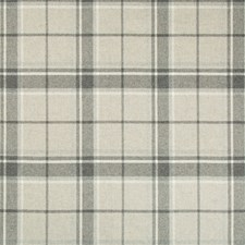 Grey Heather Plaid Decorator Fabric by Kravet
