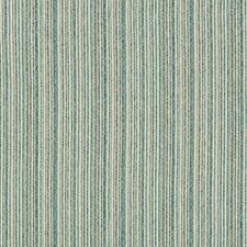 Turquoise/Beige/Blue Stripes Decorator Fabric by Kravet