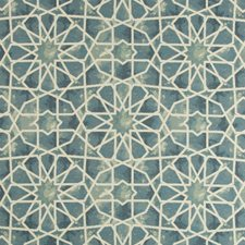 Blue/Green/Ivory Ethnic Decorator Fabric by Kravet