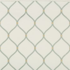 White/Turquoise/Yellow Geometric Decorator Fabric by Kravet