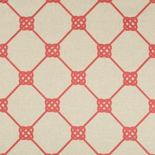 Coral Geometric Decorator Fabric by Kravet