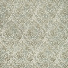 Green/Teal/White Damask Decorator Fabric by Kravet
