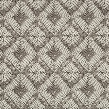 White/Grey/Charcoal Medallion Decorator Fabric by Kravet