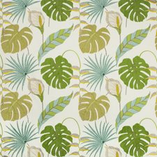 White/Green/Yellow Botanical Decorator Fabric by Kravet