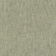 Spa/White/Gold Herringbone Decorator Fabric by Kravet