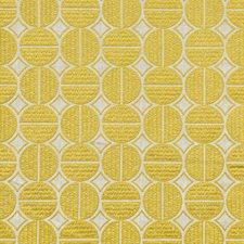 Neutral/Yellow Geometric Decorator Fabric by Kravet