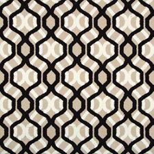 Beige/Black/White Geometric Decorator Fabric by Kravet