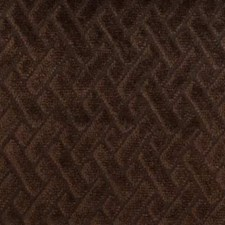 Dark Brown Geometric Decorator Fabric by Duralee