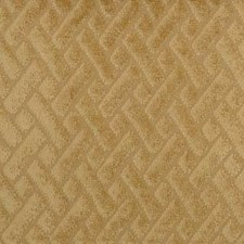 Gold Geometric Decorator Fabric by Duralee