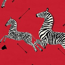 Masai Red Decorator Fabric by Scalamandre