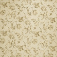 Natural Floral Decorator Fabric by Fabricut