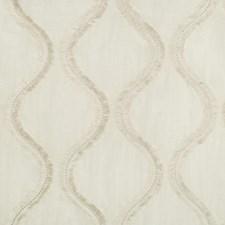 White/Silver Geometric Decorator Fabric by Kravet