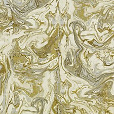 Gold/Silver Abstract Decorator Fabric by Duralee