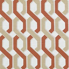 Natural/Russett Abstract Decorator Fabric by Duralee