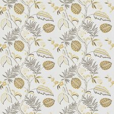 Saffron Floral Decorator Fabric by Stroheim