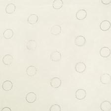 Silver/Metallic/White Geometric Decorator Fabric by Kravet