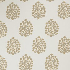 Oatmeal Leaves Decorator Fabric by Trend