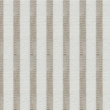 White/Taupe Stripes Decorator Fabric by Kravet