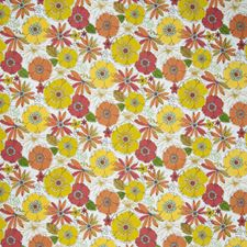 Grapefruit Floral Decorator Fabric by Trend