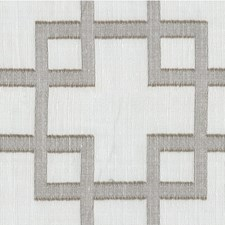 White/Grey Geometric Decorator Fabric by Kravet