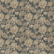 Blue Topaz Floral Decorator Fabric by Stroheim