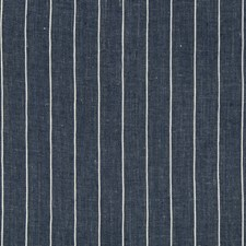 Indigo/White Stripes Decorator Fabric by Kravet