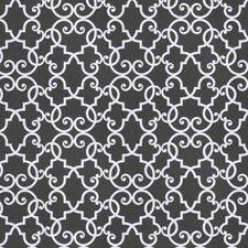 Slate Lattice Decorator Fabric by Trend