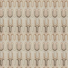 Coffee Geometric Decorator Fabric by Fabricut