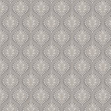 Charcoal Leaves Decorator Fabric by Stroheim