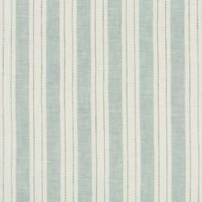 White/Light Blue/Grey Stripes Decorator Fabric by Kravet