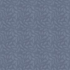 Denim Leaves Decorator Fabric by Trend