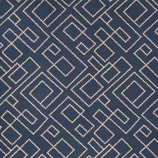 Indigo Embroidery Decorator Fabric by Fabricut