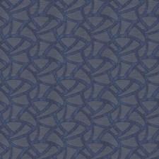Blue Geometric Decorator Fabric by Fabricut