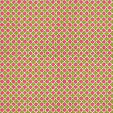 Green Pink Global Decorator Fabric by Stroheim