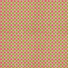 Green Pink Global Decorator Fabric by Stroheim