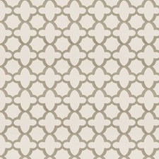 Grey Geometric Decorator Fabric by Stroheim