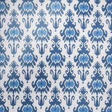 Indigo Geometric Decorator Fabric by Vervain